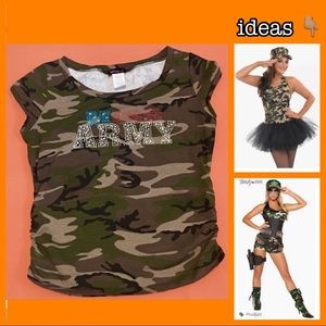 Tops - Miss Army Tee! Great for Halloween too!